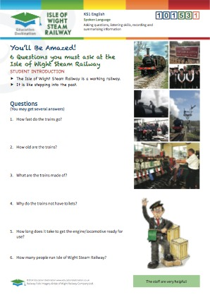 Click to view Resource 101531 6 Questions you must ask at the Isle of Wight Steam Railway