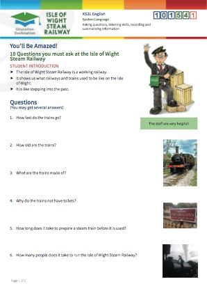 Click to view Resource 101541 10 Questions you must ask at the Isle of Wight Steam Railway