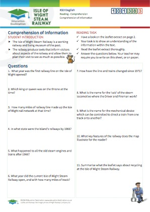 Click to view Resource 101383 Comprehension of Information - Interpreting Texts