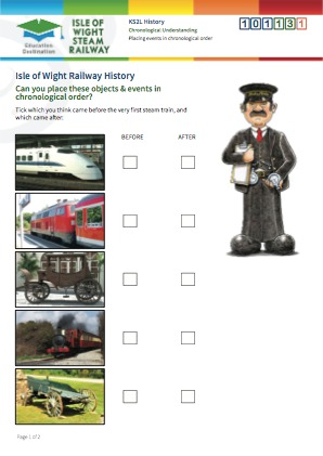 Click to view Resource 101131 Placing Railway events in chronological order