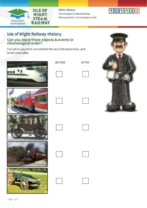 Click to view Resource 101132 Placing Railway events in chronological order