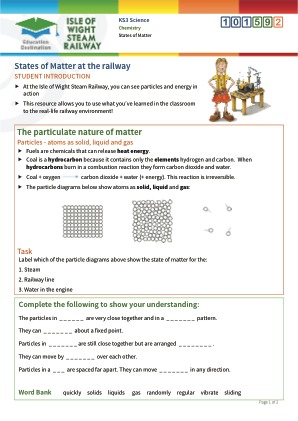 Click to view Resource 101592 States of matter at the railway