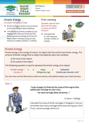 Click to view Resource 101411 Kinetic energy in action