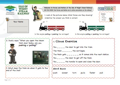 Click to view Resource 101041 Forces at the Railway!