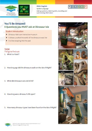 Click to view Resource 102031 5 Questions you must ask at Dinosaur Isle Museum