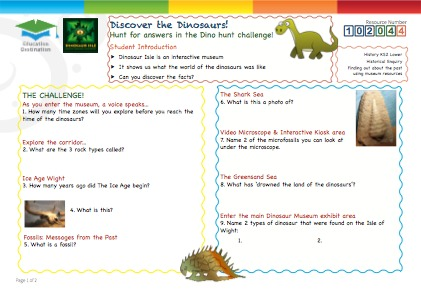 Click to view Resource 102044 Discover the Dinosaurs!