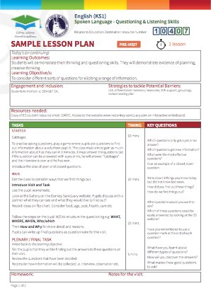 View Sample Lesson Plan