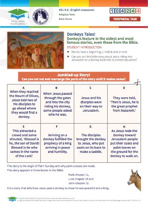 Click to view Resource 104244 Jesus on a Donkey - Sequencing Exercise