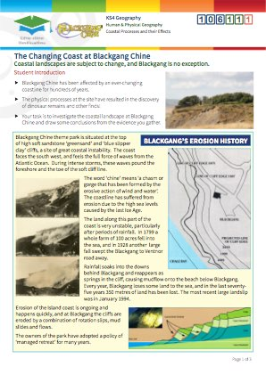 Click to view Resource 106111 The Changing Coast at Blackgang Chine
