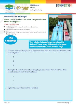 Click to view Resource 106014 Water Force Challenge!