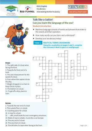 Click to view Resource 107492 Talk Like a Sailor! Understanding Maritime Terminology