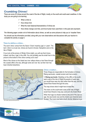 Click to view Resource 107572 IW Coastal Trail - KS3 - Chines