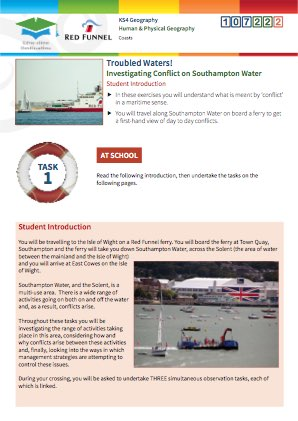 Click to view Resource 107222 Troubled Waters! Investigating conflict on Southampton Water