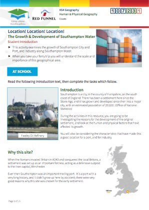 Click to view Resource 107231 Location Location Location! Southampton Water