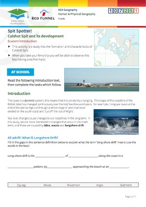 Click to view Resource 107251 Spit Spotter! Calshot Spit and its development