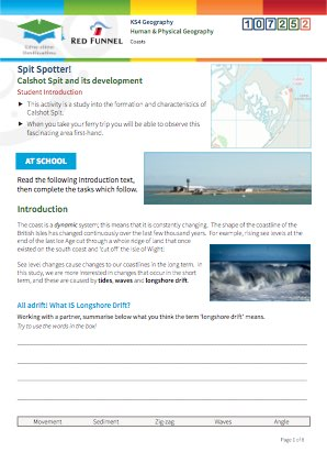 Click to view Resource 107252 Spit Spotter! Calshot Spit and its development
