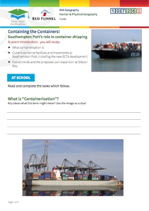 Click to view Resource 107262 Containing the Containers! The role of containerisation in world trade.