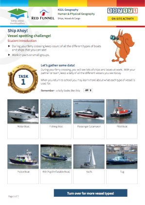 Click to view Resource 107171 Ship Ahoy! Ships, Vessels and Cargo on Southampton Water