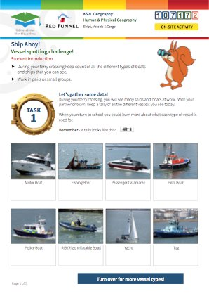 Click to view Resource 107172 Ship Ahoy! Ships, Vessels and Cargo on Southampton Water
