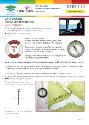 Click to view Resource 107111 Don't Get Lost! Using simple compass directions.