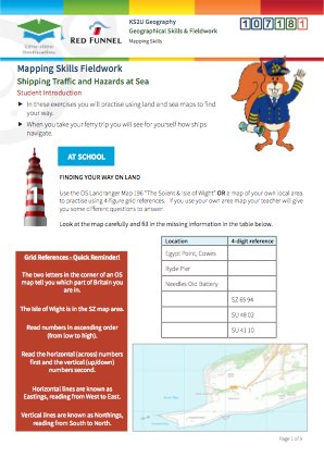 Click to view Resource 107181 Mapping Skills Fieldwork: Shipping Traffic & Hazards at Sea