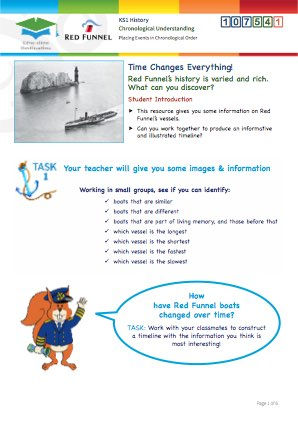 Click to view Resource 107541 Time Changes Everything! Constructing a Ferry Timeline!