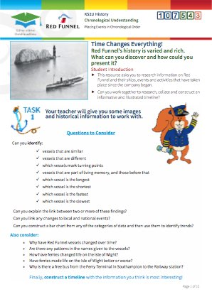 Click to view Resource 107543 Time Changes Everything! Constructing a Ferry Timeline!