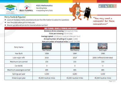 Click to view Resource 107332 Ferry Facts & Figures!