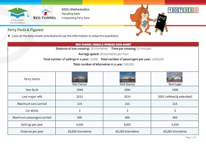 Click to view Resource 107333 Ferry Facts & Figures!