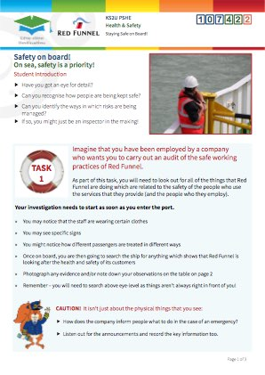 Click to view Resource 107422 Managing Risk! Staying Safe on board
