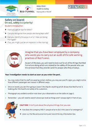 Click to view Resource 107423 Managing Risk! Staying Safe on board