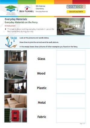 Click to view Resource 107031 Everyday Materials on the Ferry!