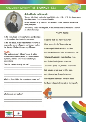 Click to view Resource 107651 Arts & Literary Trail - Shanklin - KS2