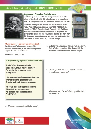 Click to view Resource 107652 Arts & Literary Trail - Bonchurch - KS2