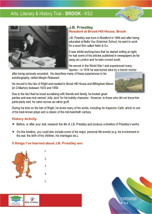 Click to view Resource 107655 Arts & Literary Trail - Brook & Mottistone - KS2