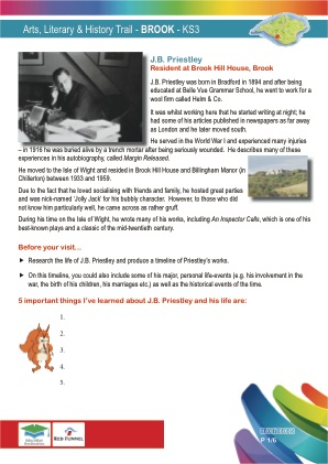Click to view Resource 107665 Arts & Literary Trail - Brook & Mottistone - KS3