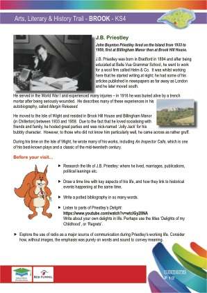Click to view Resource 107675 Arts & Literary Trail - Brook & Mottistone - KS4