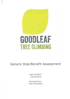 Generic risk assessment for Goodleaf Tree Climbing