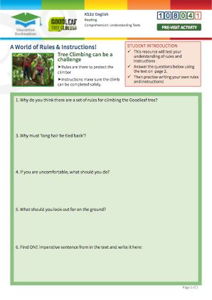 Click to view Resource 108041 Understanding Texts - Analysing Instructions