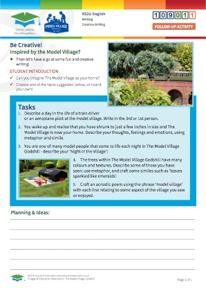 Click to view Resource 109011 Be Creative! Composition inspired by The Model Village, Godshill