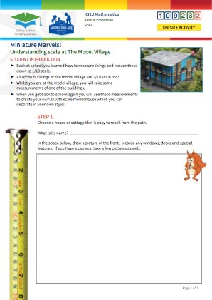 Click to view Resource 109232 Miniature Marvels: Understanding Scale at the Model Village!