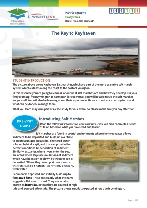 Click to view Resource 111111 Coastal Ecosystems: The Key to Keyhaven!