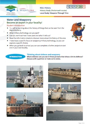 Click to view Resource 111181 Solent Defence! A History Study - Portsmouth routes