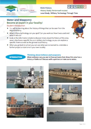 Click to view Resource 111201 Solent Defence! A History Study - Portsmouth routes