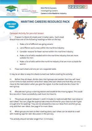 Click to view Resource 111141 Investigating Maritime Careers