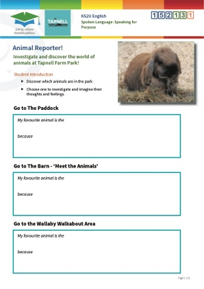 Click to view Resource 152131 Animal Reporter!