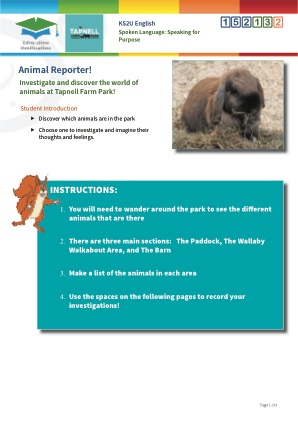 Click to view Resource 152132 Animal Reporter!