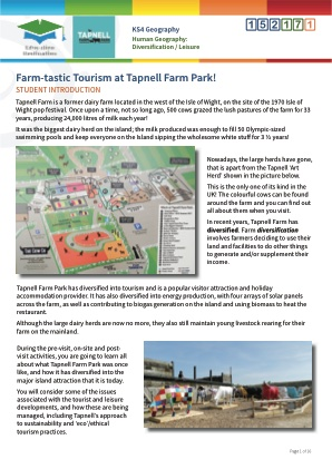 Click to view Resource 152171 Farm-tastic Tourism at Tapnell!