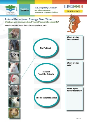 Click to view Resource 152061 Animal investigation - movement, geography, habitat