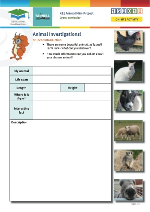 Click to view Resource 152012 Animal Mini-Project